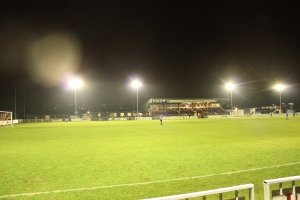 Cray shed to left of main stand