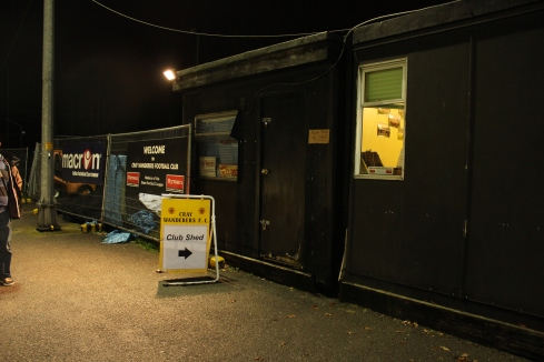 Club shed entrance
