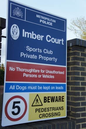 Say what you like about Imber Court but with signage like this, no wonder Bromley felt at home